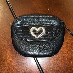 Vintage Brighton Black Leather Coin Purse